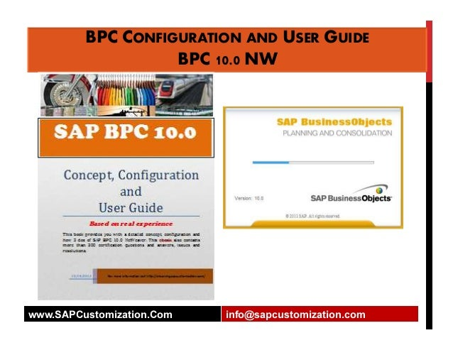 bpc configuration and user guide ver 10 0 rh slideshare net sap bpc 10 configuration guide SAP BPC Logo