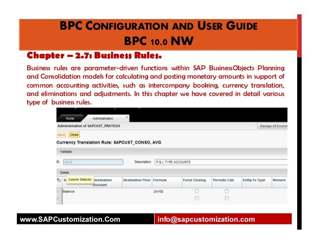 business planning and consolidation user guide