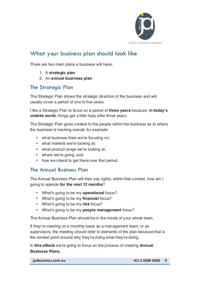 looking for a business plan