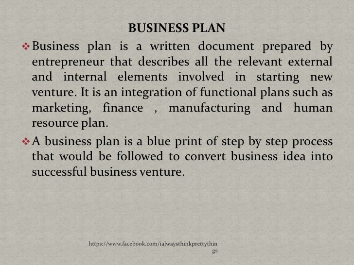 steps for intending the online business plan