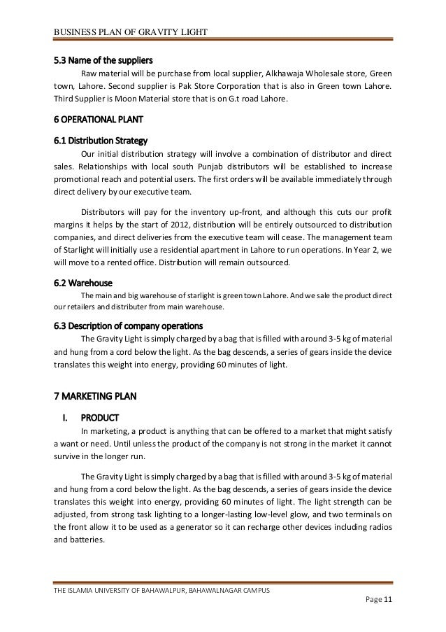 Business plan of gravity light business plan friedricerecipe
