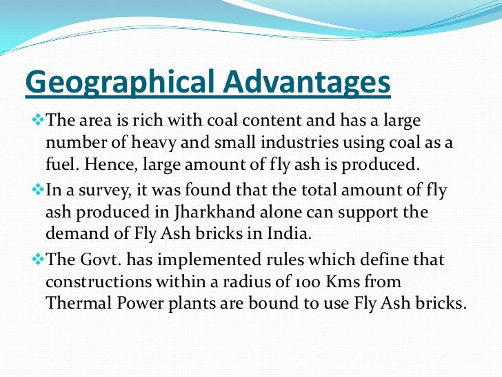 case study on fly ash bricks Fly ash brick project: feasibility study using cvp analysis case solution, this case is about entrepreneurship publication date: december 20, 2013 product #: w13543.