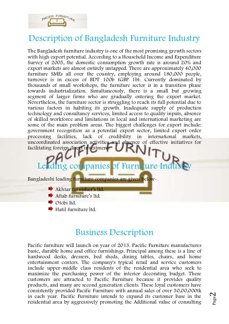 Sample business plan for used furniture store