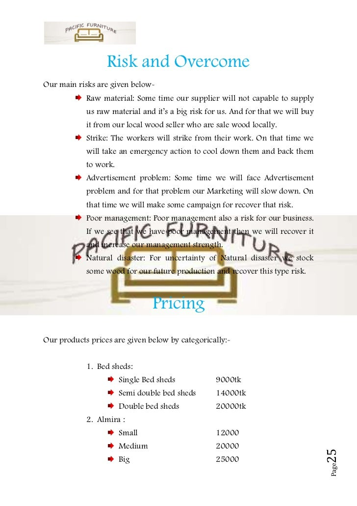 business plan sample on furniture 24 page 25