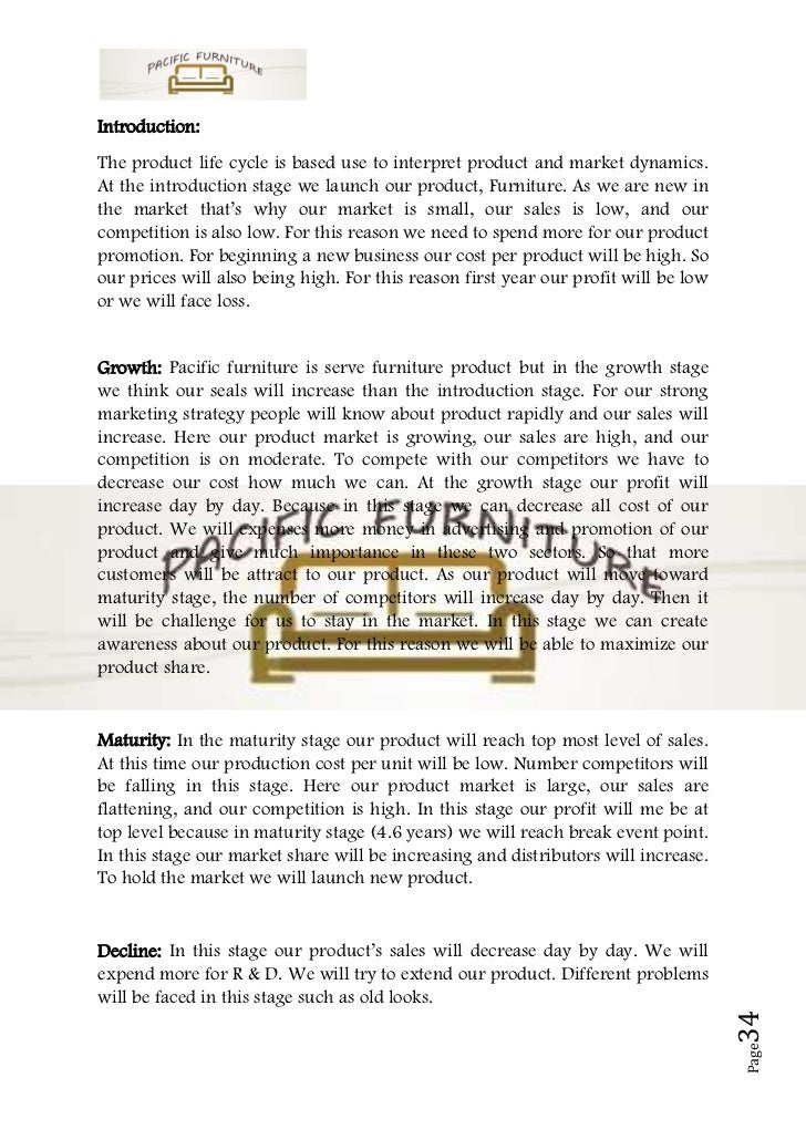 Business plan sample on furniture - New uses for home products ...