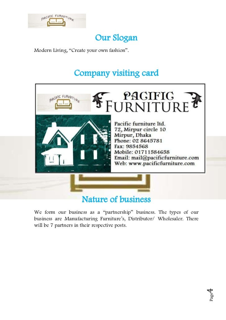 Refurbished furniture business plan