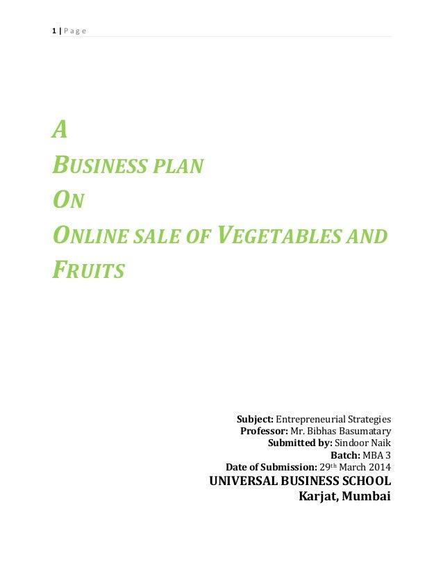 online florist business plan