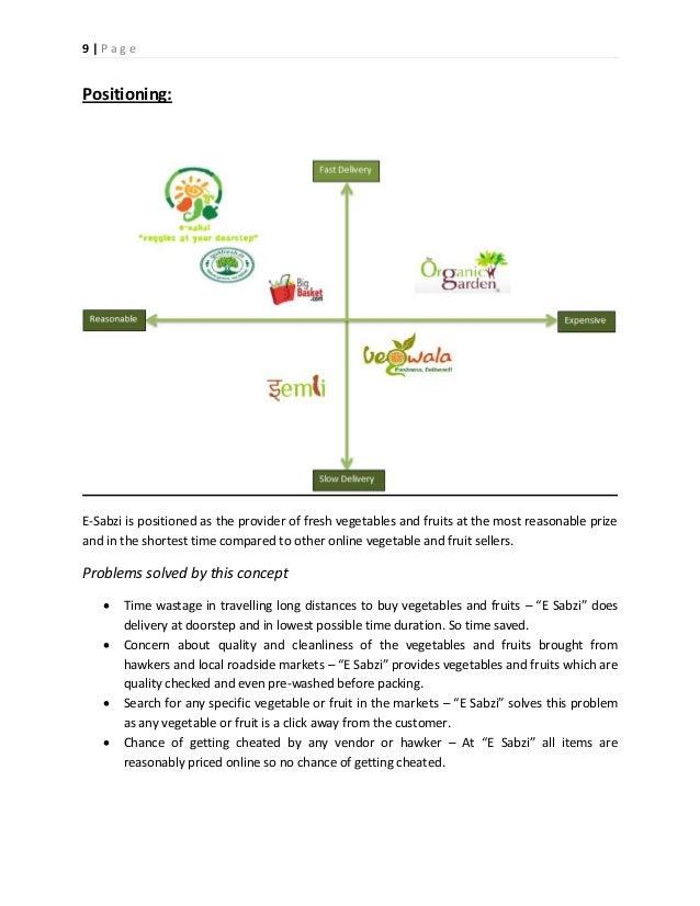Online vegetable business plan