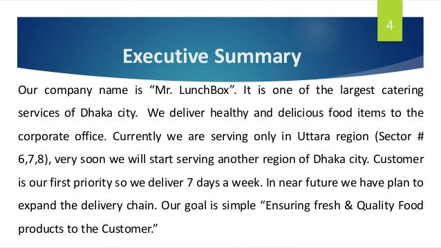 Business plan on Mr  LunchBox