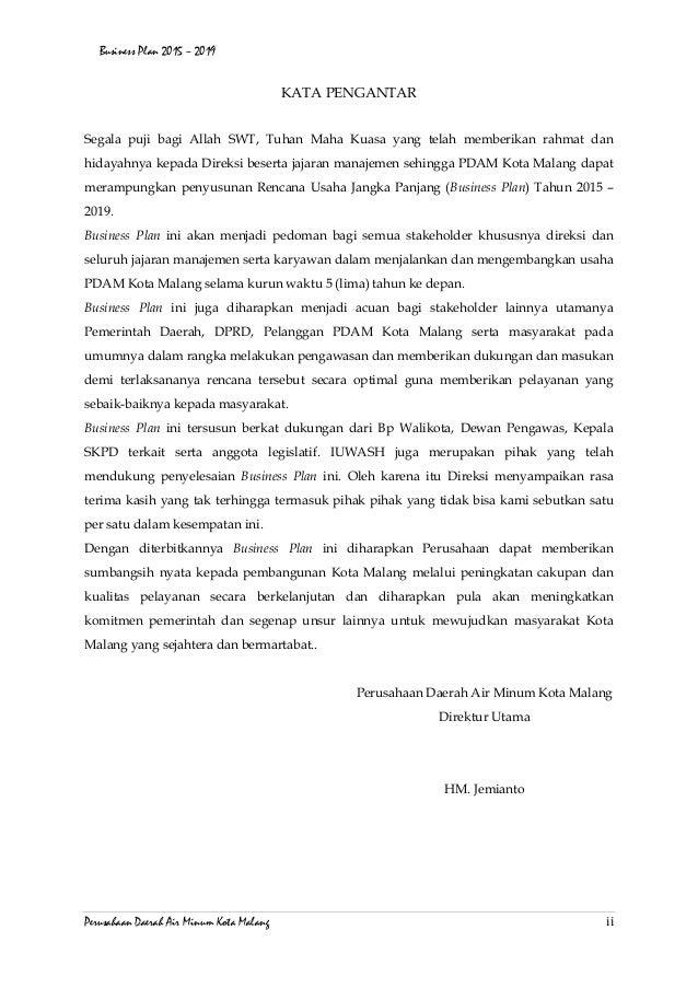 Business Plan Pdam Kota Malang 2015
