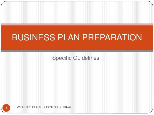 guidelines to get business enterprise plan
