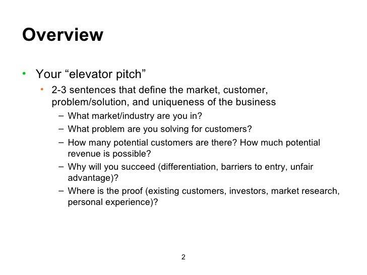 Business Plan Presentation Template Slide 2
