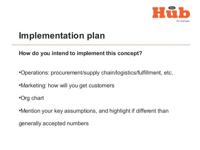 Business plan presentation template implementation plan saigontimesfo