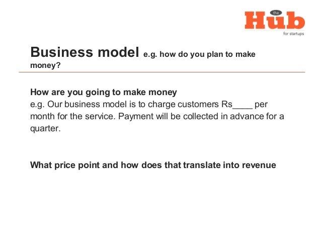 Business plan presentation template business model eg how do you flashek Gallery