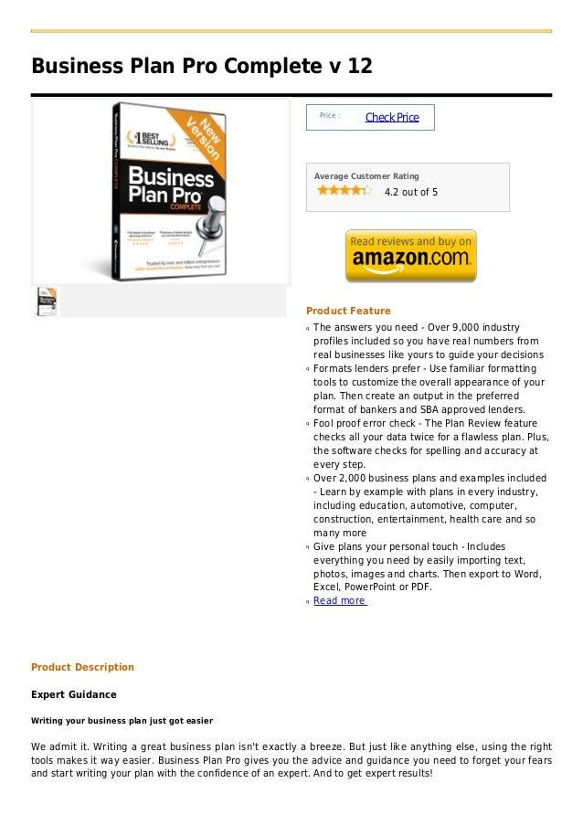 Business Plan Pro Complete v 12                                                               Price :                     ...