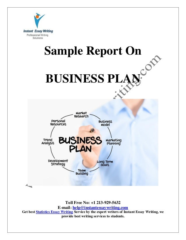 business plan report sample