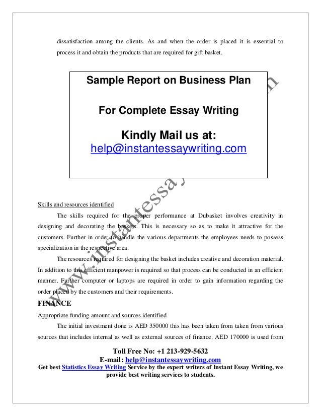 sample report on business plan by instant essay writing delay in making delivery can result in causing 11