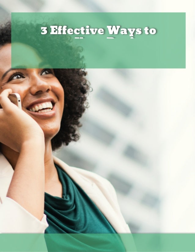 3 E ective Ways to Improve Your Business in 2019 Bo Kau mann  REALTOR