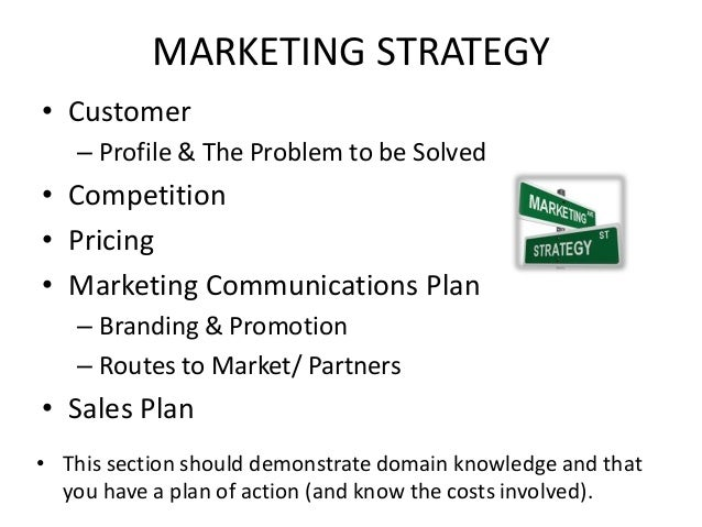 MARKETING STRATEGY • Customer – Profile & The Problem to be Solved • Competition • Pricing • Marketing Communications Plan...