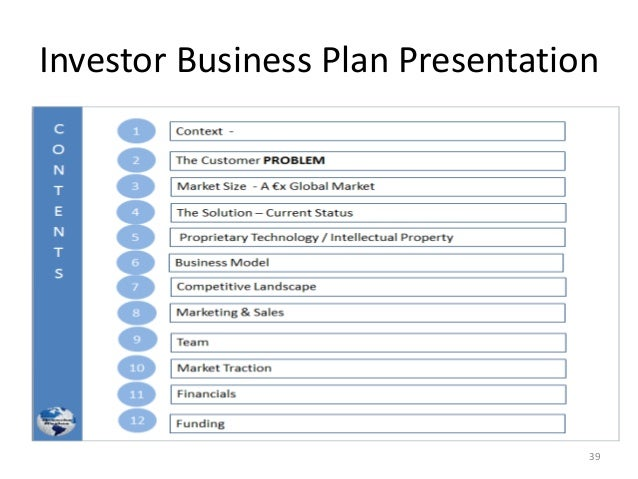 Investor Business Plan Presentation 39