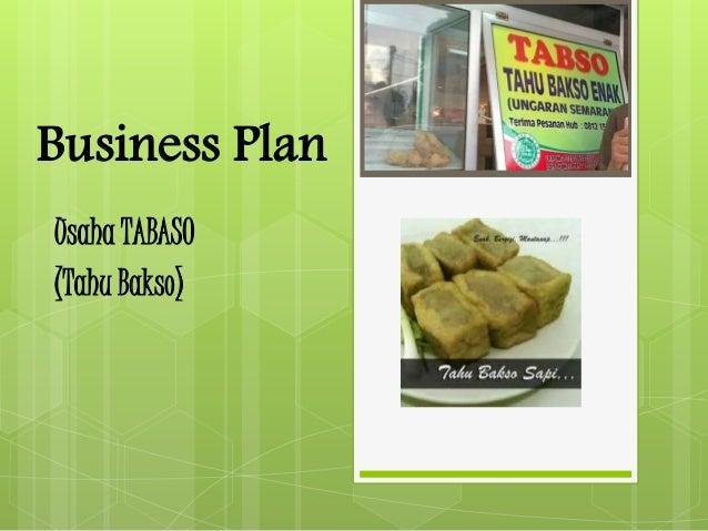 Business Plan Tabaso