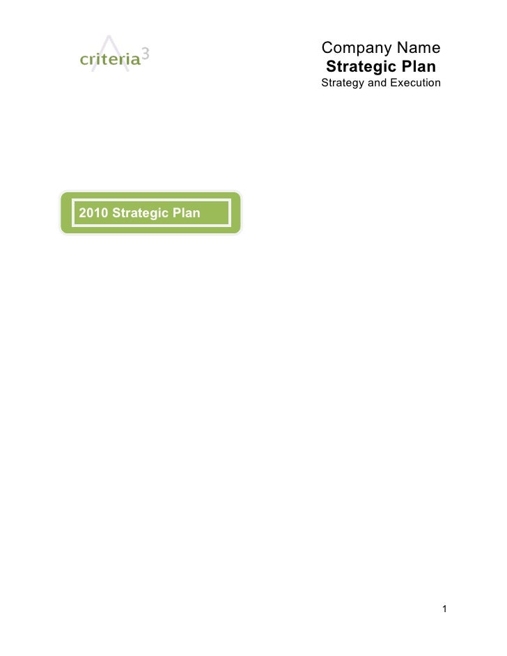 Company Name                       Strategic Plan                       Strategy and Execution     2010 Strategic Plan    ...