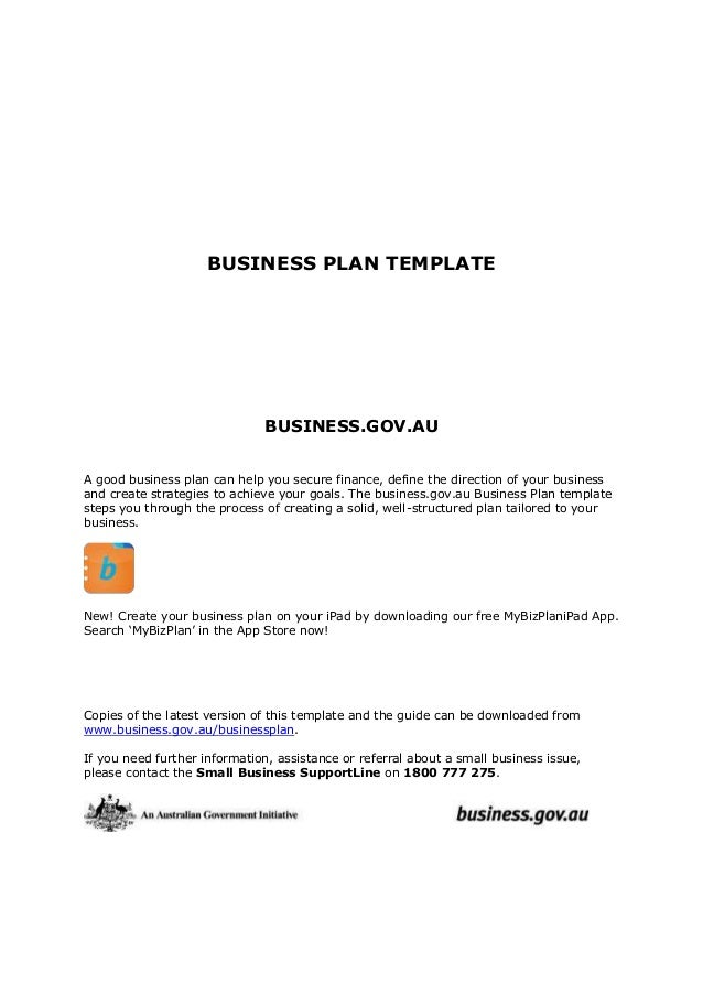 Business plantemplate business plan template business a good business plan can help you secure flashek Gallery