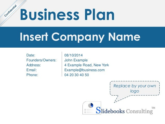 Simple business plan template by ex mckinsey consultants business plan insert company name date foundersowners address email phone flashek
