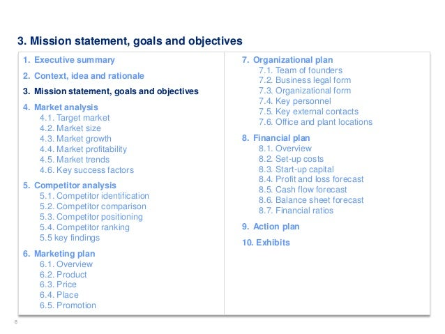 Simple business plan template by ex mckinsey consultants 8 flashek Image collections