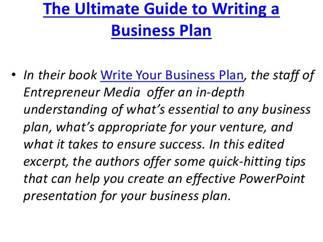 Top tips: how to write a business plan