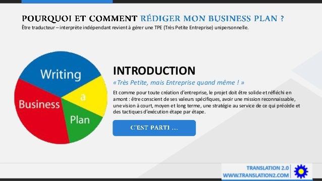Business plan pour traducteurs - interprètes Slide 3