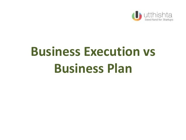 Business Execution vs Business Plan