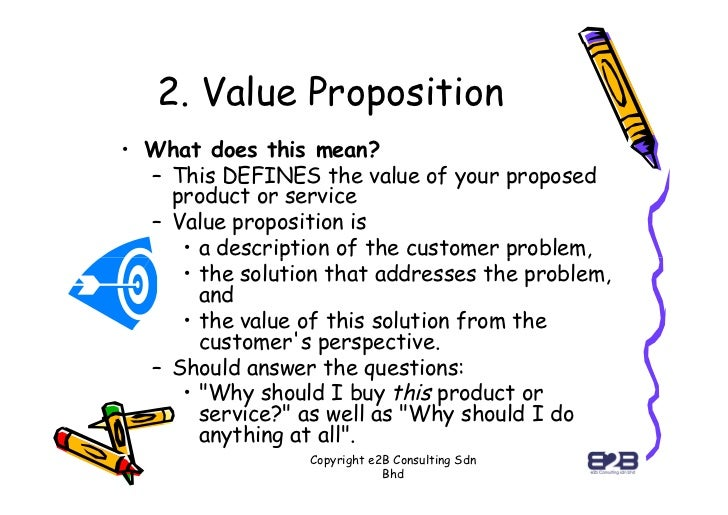 value proposition business model example