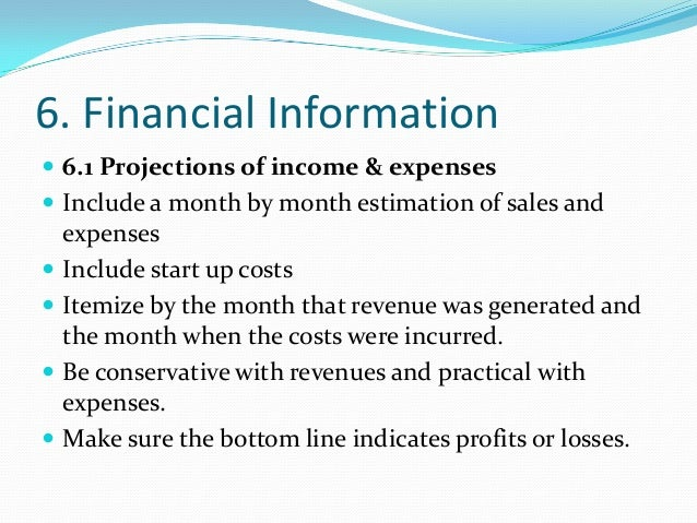 how to write a financial plan for a business plan