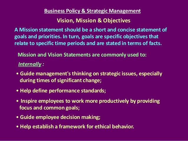 strategic management mission statement essay Successful strategic management depends on an accurate and thorough evaluation of the competitive environment and macroenvironment in setting a strategy, managers try to match the organization's skills and resources to the opportunities found in the external environment.