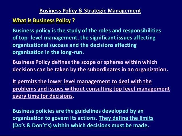 strategic management and public policy study Strategic planning, strategic management, and strategy execution basics.