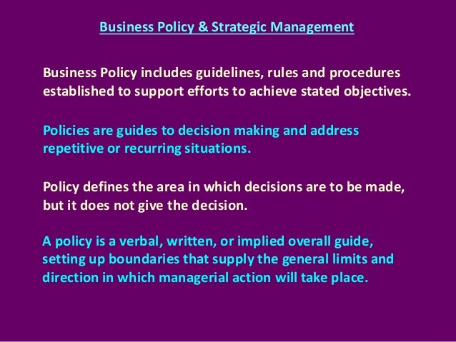 Strategic ebook management policy business and