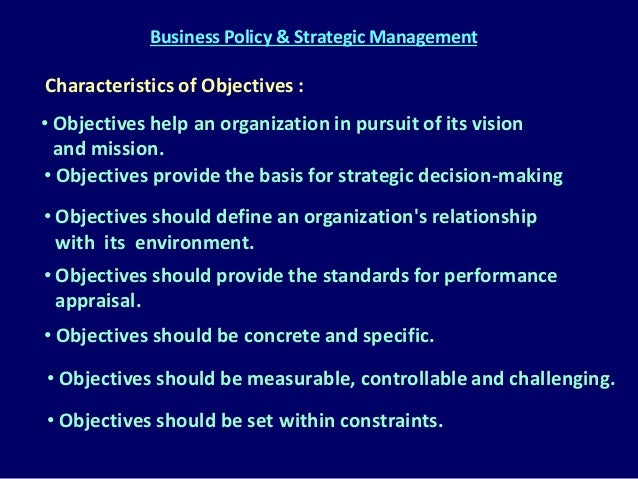 business policy strategic management Planning, corporate and business policy, and related topics this literature  (1) to review and classify the research literature in strategic manage- ment.