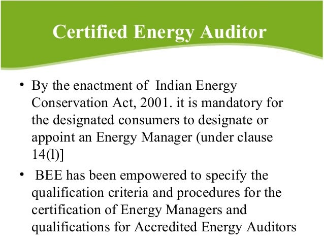 business potential of energy auditing in kerala rh slideshare net Certified Internal Auditor Energy Audit Companies