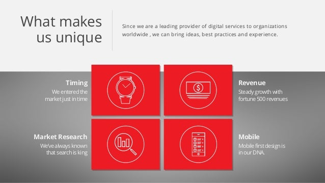 Since we are a leading provider of digital services to organizations worldwide , we can bring ideas, best practices and ex...