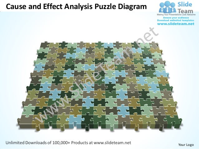 Cause and Effect Analysis Puzzle Diagram                                           Your Logo