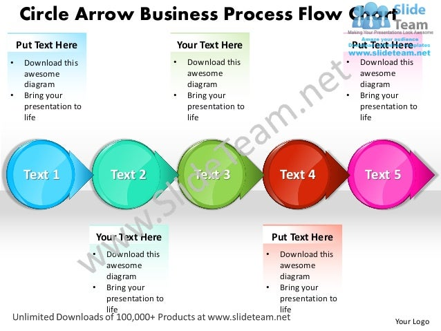 Business Power Point Templates Circle Arrow Process Flow