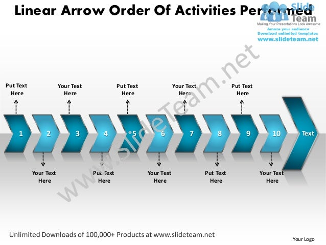 Linear Arrow Order Of Activities PerformedPut Text               Your Text              Put Text               Your Text  ...