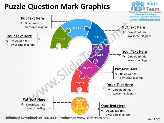 Business Power Point Templates Puzzle Free Question Mark Graphics Sal