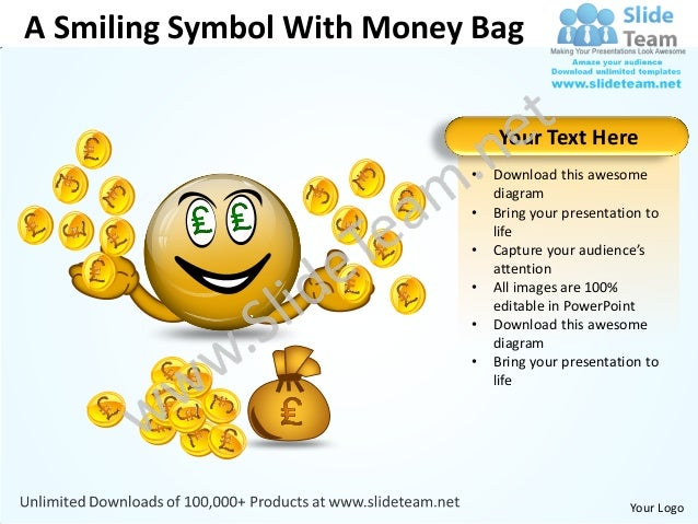 A Smiling Symbol With Money Bag                               Your Text Here                           •   Download this a...