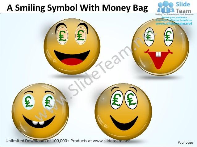 A Smiling Symbol With Money Bag                                  Your Logo