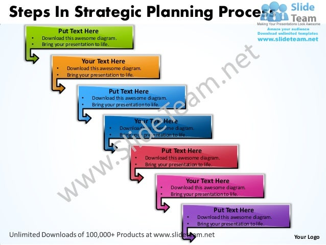 business power point templates steps strategic planning process sales
