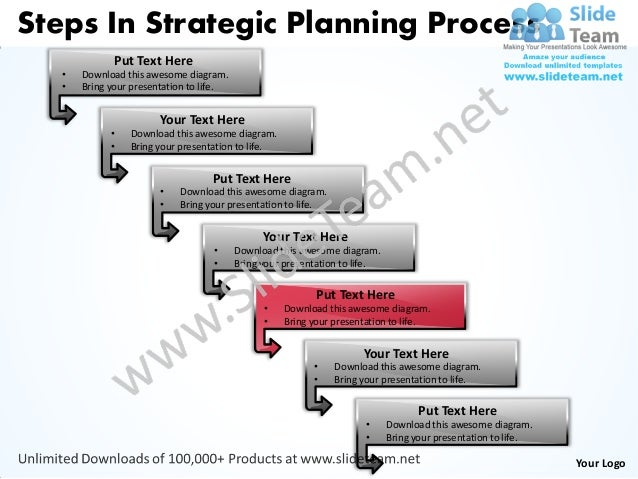 Business power point templates steps strategic planning process sales…