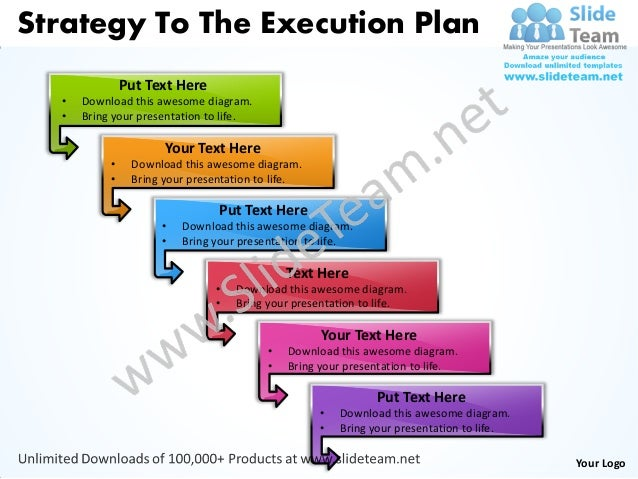 Business power point templates strategy to the execution plan sales p strategy to the execution plan put text here download this awesome diagram toneelgroepblik Choice Image