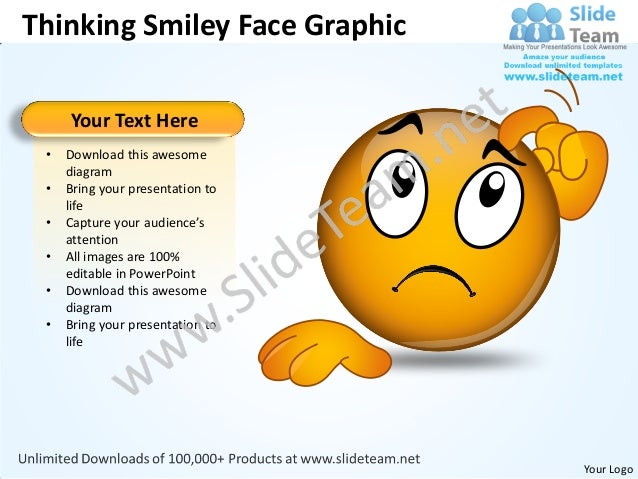Business Power Point Templates Thinking Smiley Face Graphic